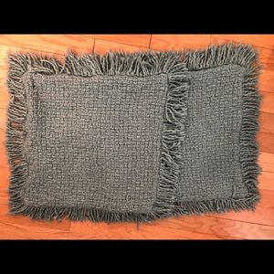 2 pcs Pottery Barn knitted Pillow covers w/ tassel